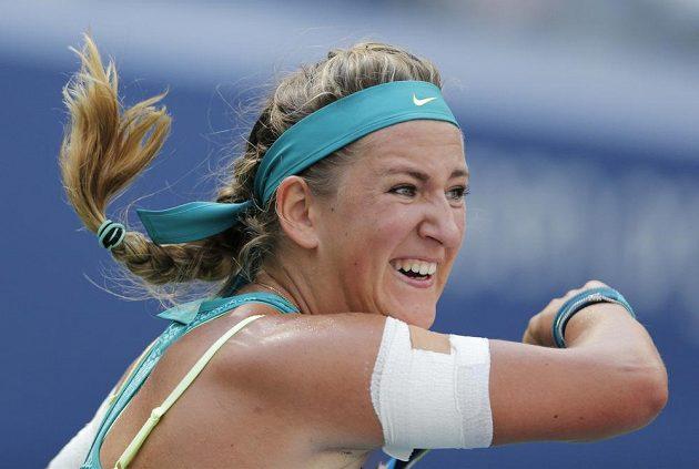Běloruska Viktoria Azarenková v utkání s Američankou Varvarou Lepchenkovou.