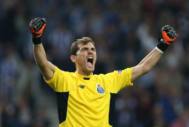 Brankář Porta Iker Casillas rekordní 152. utkání v Lize mistrů vyhrál.
