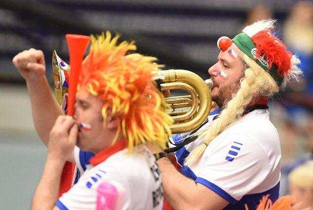 Čeští fanoušci na Fed Cupu.