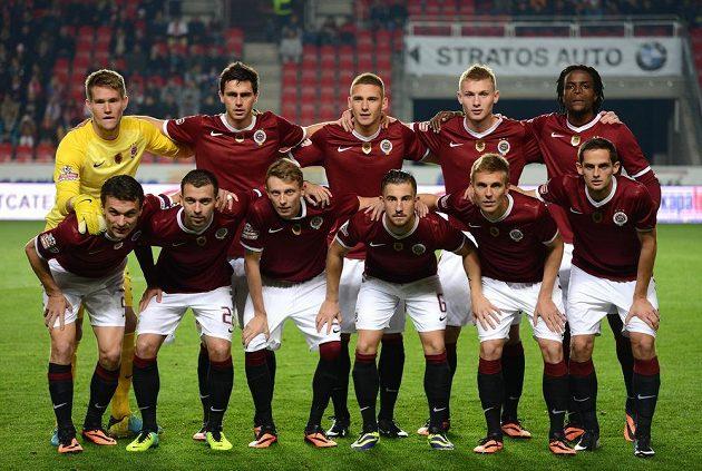 Mužstvo Sparty před derby na Slavii.