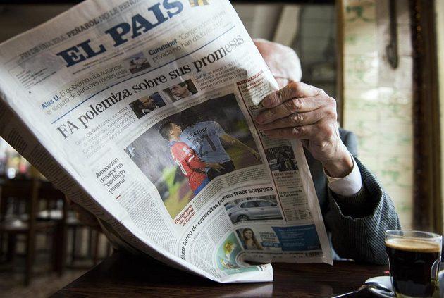 Uruguayský list El País zařadil Jarův úlet na svou titulní stránku.