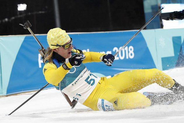 Drtivý finiš Švédovi Sebastianovi Samuelssonovi tentokrát medaili nepřinesl. V individuálním závodě skončil čtvrtý.