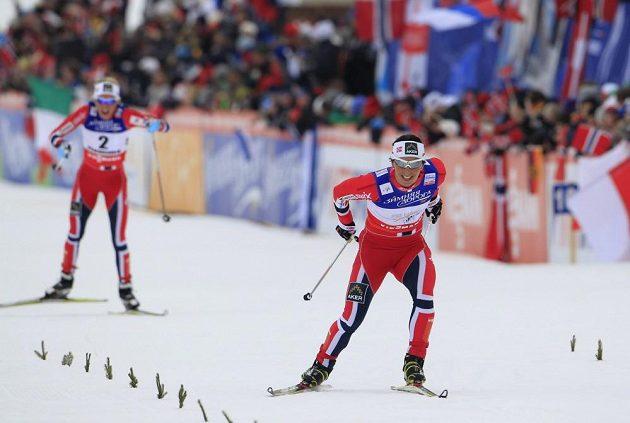 S úsměvem pro zlato. Norka Marit Björgenová si jede na MS ve Val di Fiemme pro triumf ve skiatlonu.