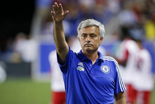 Trenér Chelsea José Mourinho v přípravném zápase s New Yorkem Red Bulls.