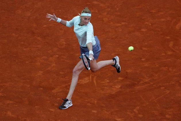 Petra Kvitová v osmifinále turnaje v Madridu s Garciaovou.