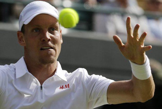 Tomáš Berdych na letošním Wimbledonu.