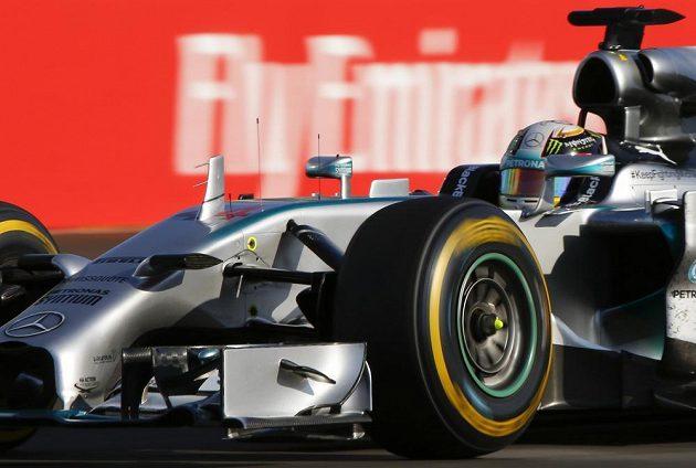 Lewis Hamilton během Velké ceny Ruska vozů formule 1.