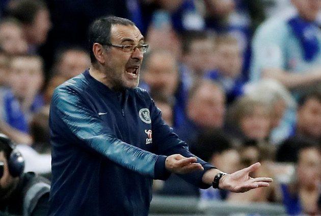 Italský manažer Chelsea Maurizio Sarri pořádně zuřil.