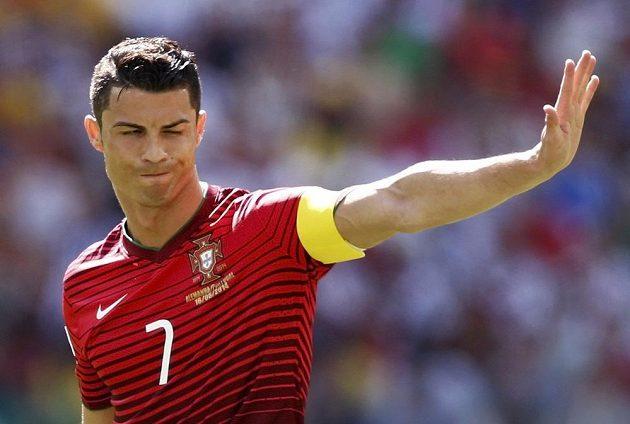 Portugalec Cristiano Ronaldo v utkání s Německem na MS v Brazílii.