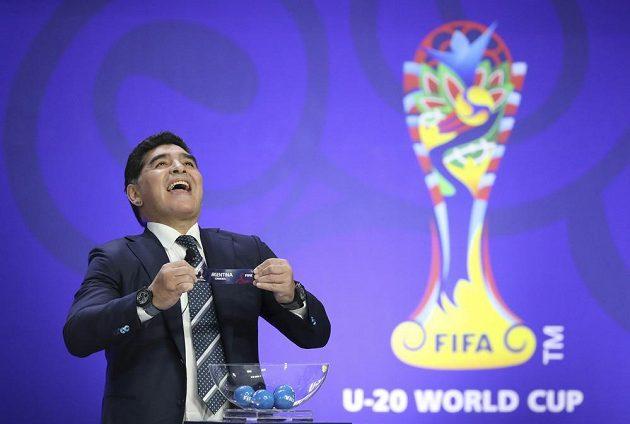 Bývalá hvězda světového fotbalu, Argentinec Diego Maradona.