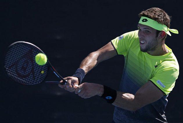 Jiří Veselý ve 2. kole na Australian Open bojoval, nakonec ale na Francouze Mannarina nestačil.