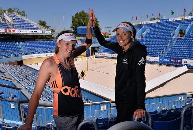 Markéta Sluková (vpravo) a Kristýna Kolocová se znají už od školy, teď se jejich cesty rozchází.