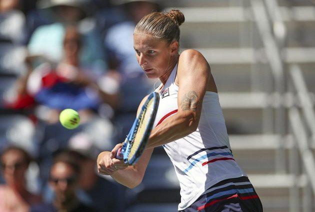 Česká tenistka Karolína Plíšková musela o postup do dalšího kola US Open hodně bojovat.