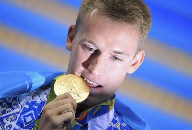 Dmitrij Balandin se zlatou medailí.