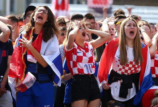 Fanynky Chorvatska porážku fotbalistů s Anglií na EURO oplakaly.