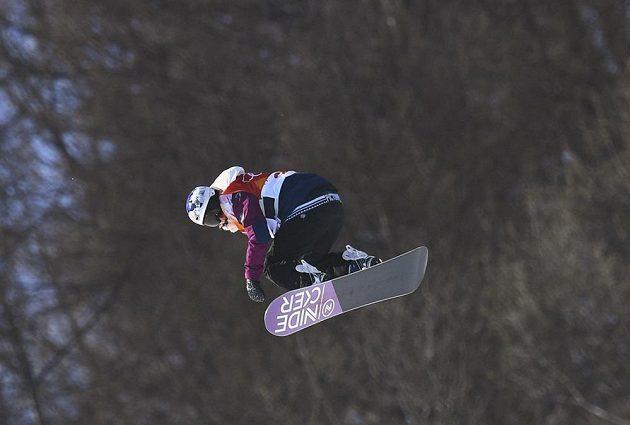 Šárka Pančochová ve finále olympijského závodu.