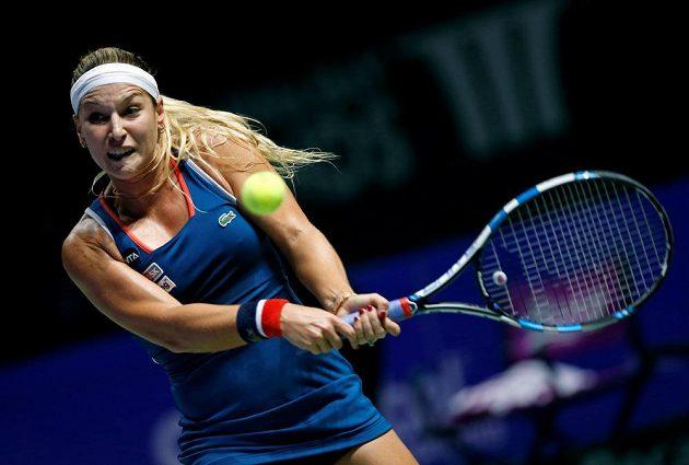 Slovenská tenistka Dominika Cibulkova ve finále dvouhry na Turnaji mistryň.