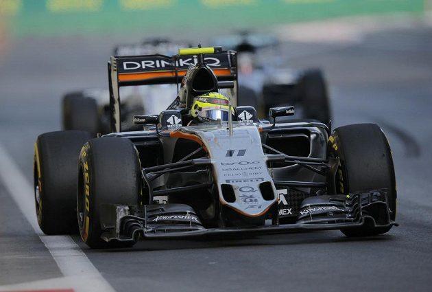 Mexičan Sergio Pérez z Force India zajel v Baku velmi dobrý závod.