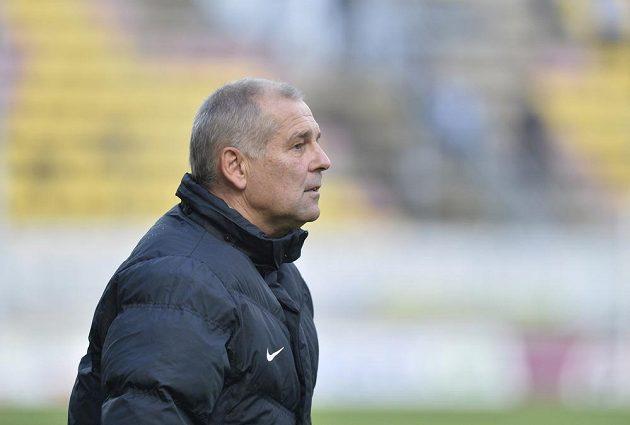 Příbramský trenér Petr Rada během zápasu s Jabloncem.