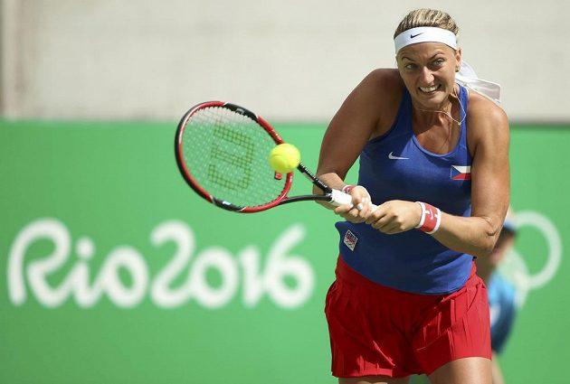 Petra Kvitová v semifinále olympijského turnaje proti Portoričance Monice Puigové.