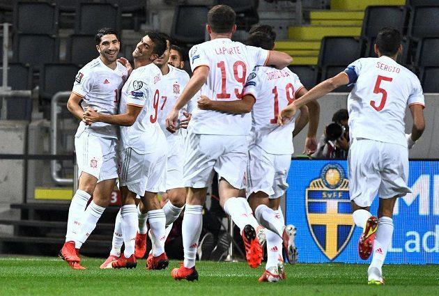 Fotbalisté Španělska sice v kvalifikaci MS 2022 na půdě Švédska vedli, nakonec ale prohráli 1:2.