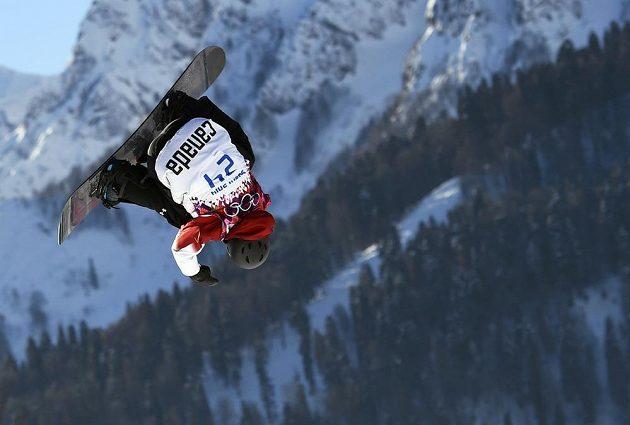 Trik Kanaďana Marka McMorrise při semifinále slopestylu.