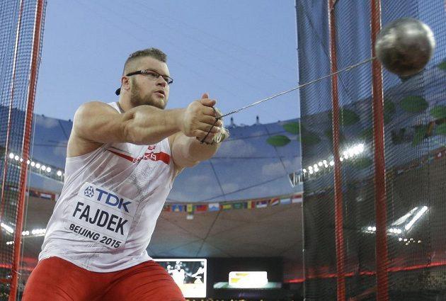 Pawel Fajdek ve finále soutěže kladivářů na MS v Pekingu.