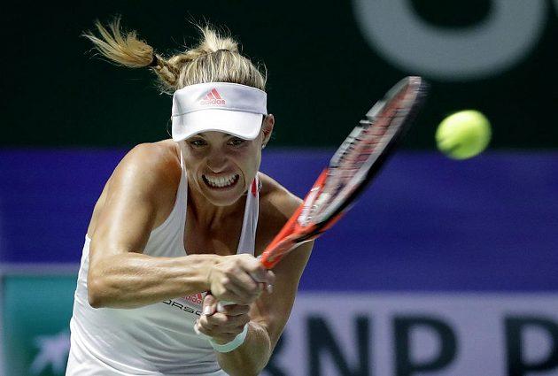 Němka Angelique Kerberová během finále s Cibulkovou.
