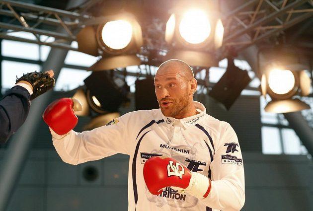 Brit Tyson Fury během přípravy na duel s Vladimírem Kličkem.