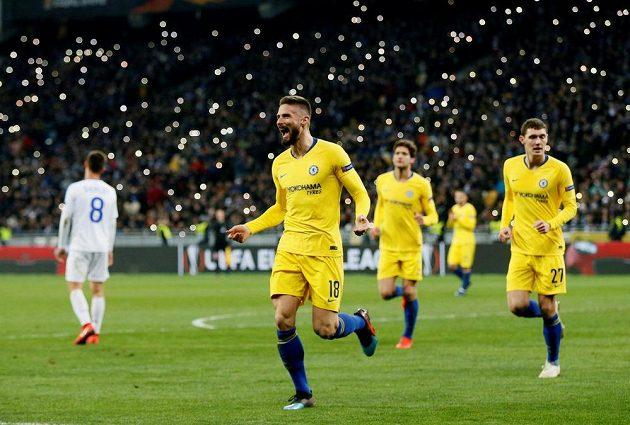 Olivier Giroud slaví gól