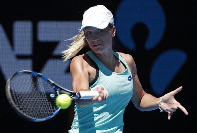 Denisa Allertová při zápase 3. kola Australian Open.