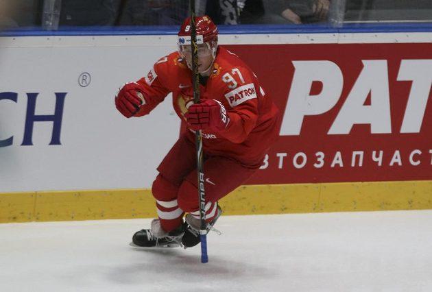 Nikita Gusev se raduje z vedoucího gólu sborné