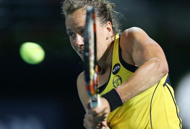 Česká tenistka Barbora Strýcová uhrála proti Saře Erraniové jen dvě hry.