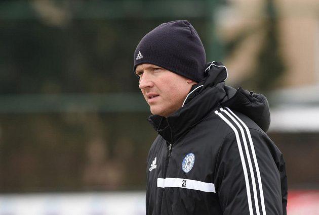 Trenér Olomouce Václav Jílek při prvním tréninku Sigmy v novém roce.