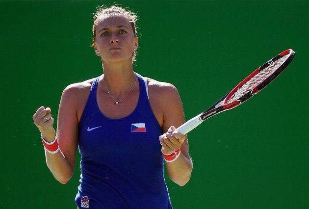 Konečně! Petra Kvitová prolomila servis své americké soupeřky.