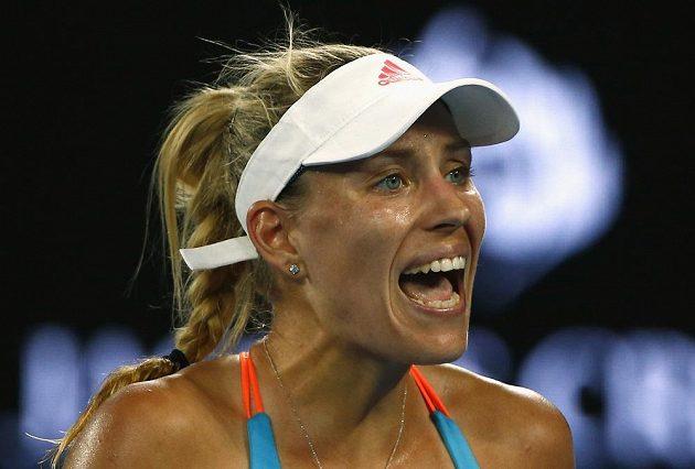 Světová tenisová jednička Angelique Kerberová na Australian Open.