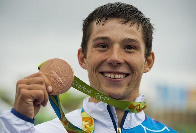 První český medailista z Ria - kanoista Jiří Prskavec s bronzem.