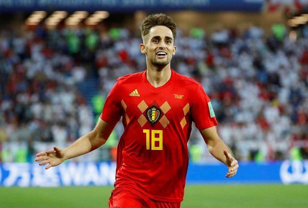 Belgičan Adnan Januzaj slaví gól proti Anglii.