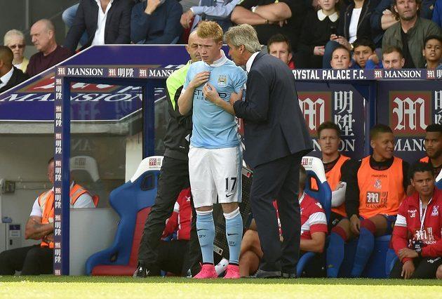 Manažer Manchesteru City Manuel Pellegrini poslal na hřišti Crystal Palace do hry i posilu Kevina De Bruyneho.