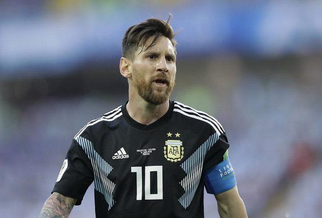 Argentinec Lionel Messi během utkání MS s Islandem.