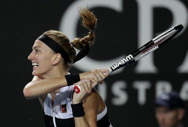 Česká tenistka Petra Kvitová v akci během grandslamového Australian Open.