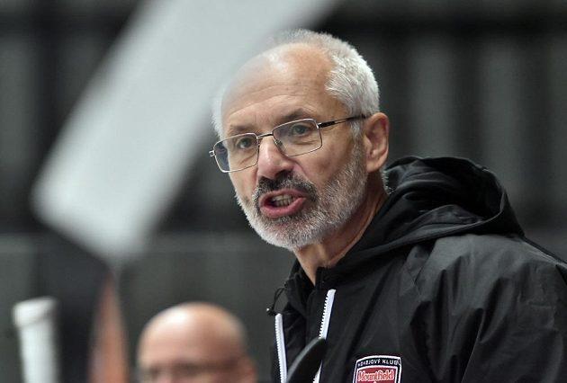 Trenér Hradce Václav Sýkora.