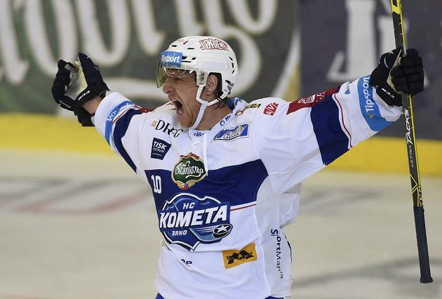 Martin Erat z Brna se raduje z gólu proti Mladé Boleslavi.
