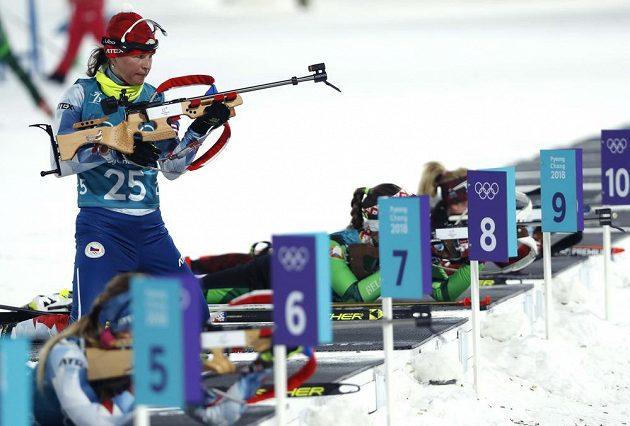 Veronika Vítkova při tréninku.