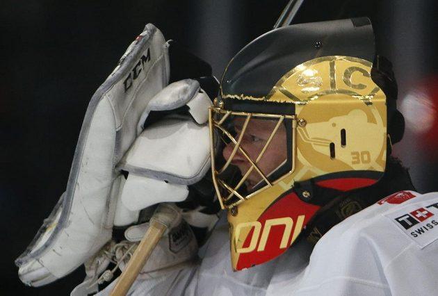 Brankář Švýcarska Leonardo Genoni na mistrovství světa.