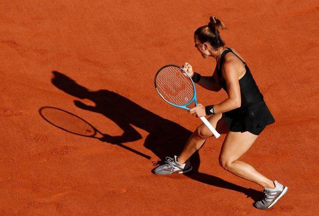 Maria Sakkariová se raduje z vítězného úderu