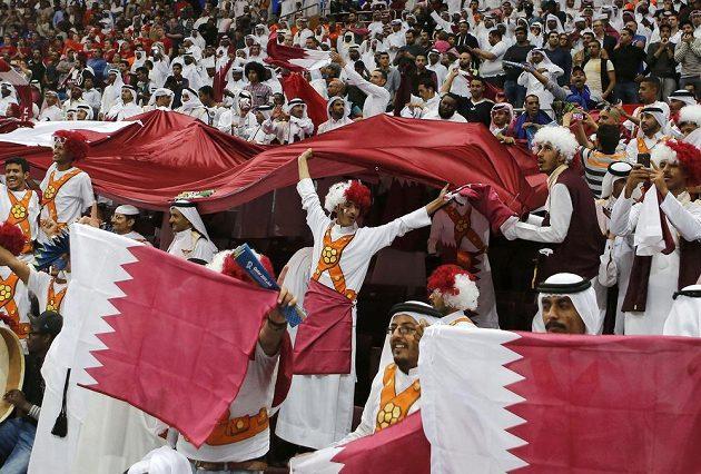 Fanoušci Kataru slaví postup do finále mistrovství světa.