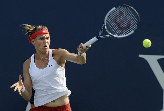 Lucie Šafářová ve finále turnaje v New Havenu.