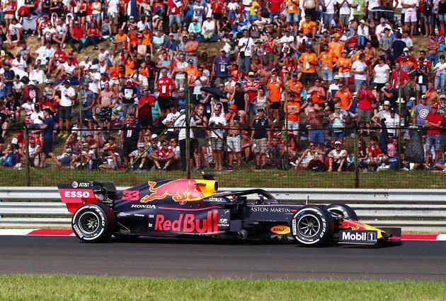Závodník Red Bullu Max Verstappen během Velké ceny Maďarska