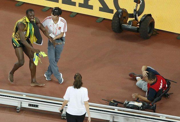Usain Bolt nepříjemný incident přešel se smíchem.